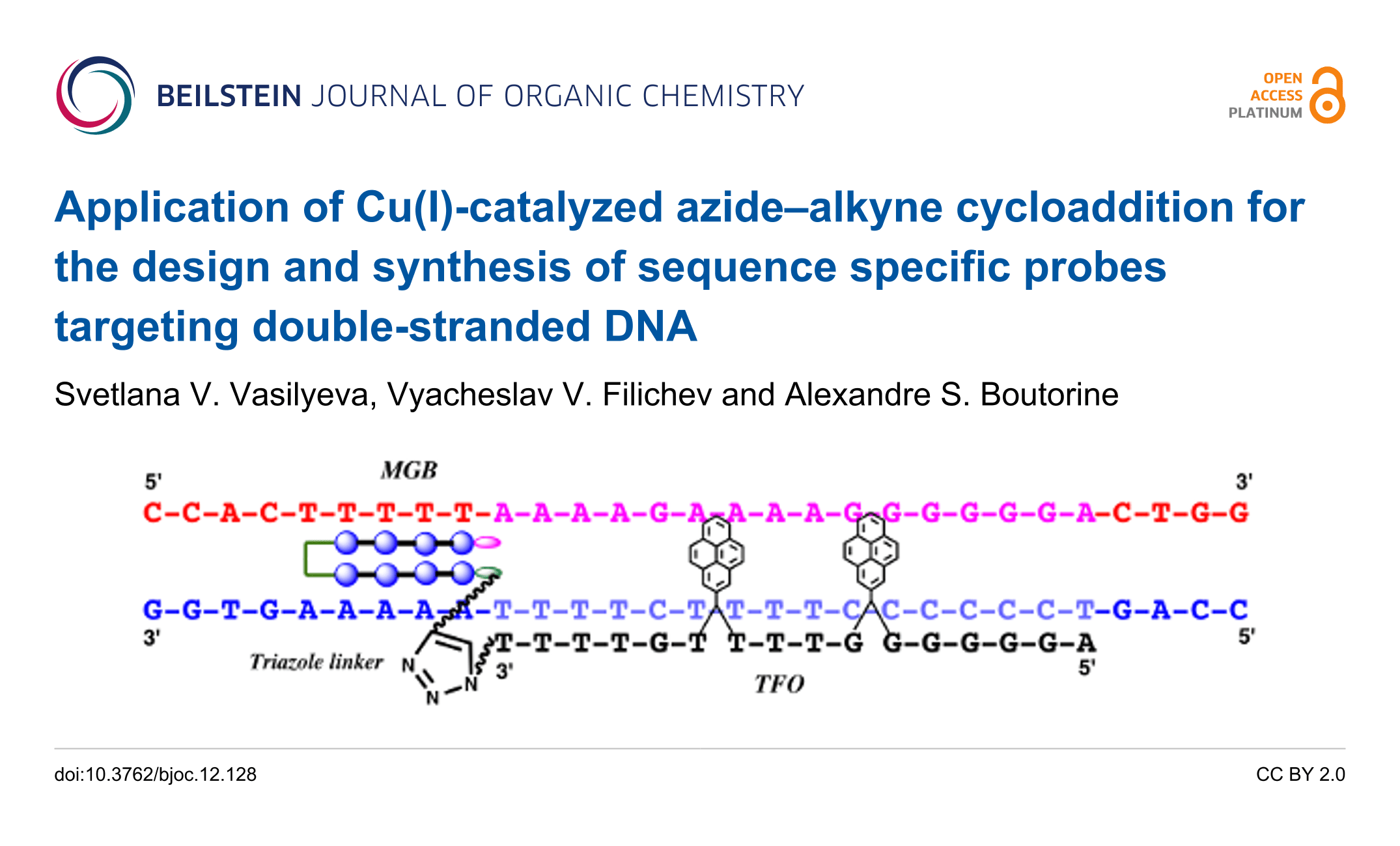 Application Of Cu I Catalyzed Azide Alkyne Cycloaddition For The Design And Synthesis Of