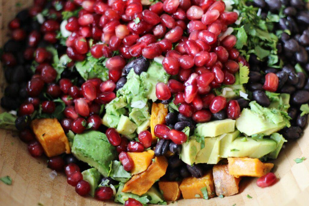 Pomegranate Sweet Potato Salad