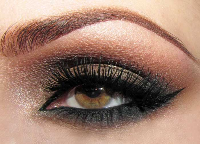 chunky smokey eyes