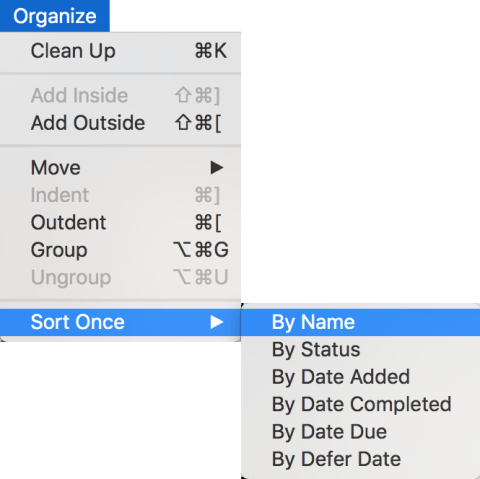 Menu command to have OmniFocus sort projects alphabetically
