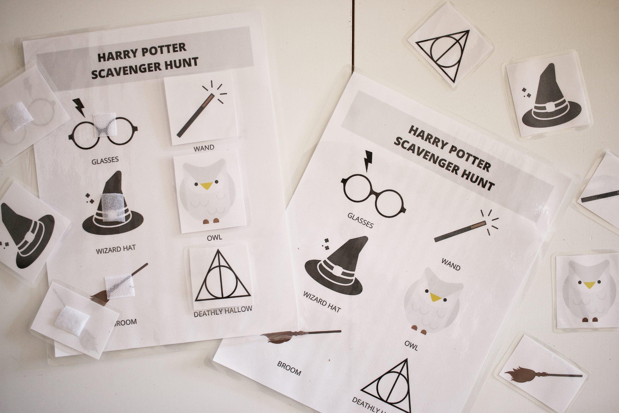 Wizarding World Scavenger Hunt Amp Memory Game Printable