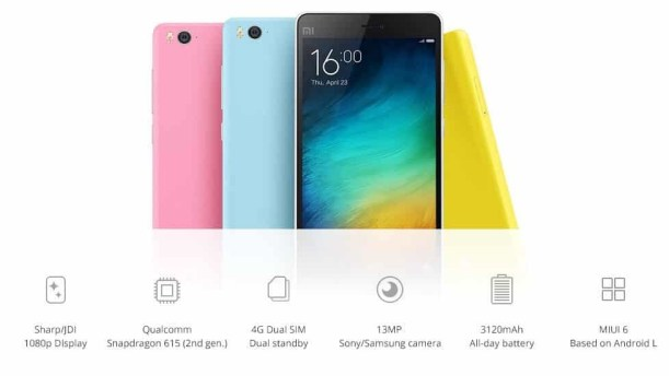 Xiaomi Mi 4i specifications and price