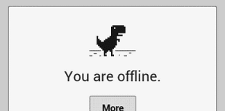 Play Google Chrome Offline Game