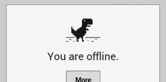 Play Google Chrome Offline Game