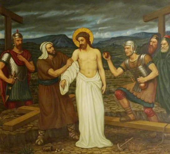 Jesus is stripped of his clothing