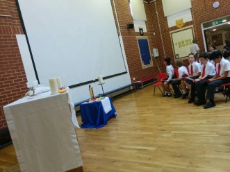 Fr John celebrated a beautiful mass with Class 5 all about St Therese