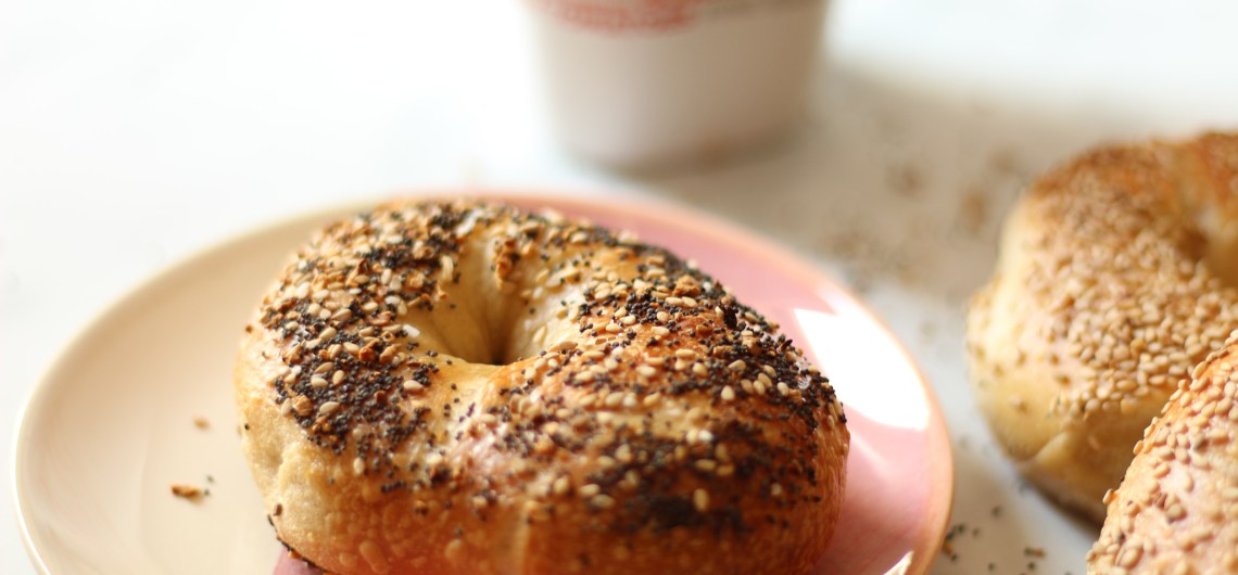 bagel and cup