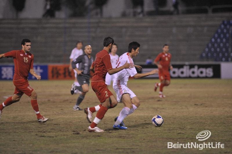 Football Game Between Lebanon-China