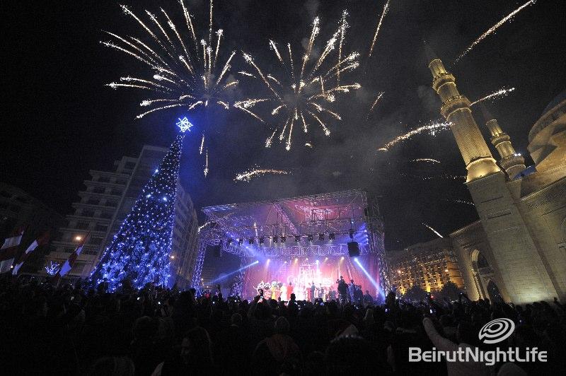 Downtown Beirut Christmas Tree Light Up