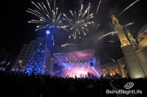 Downtown Beirut Christmas Tree Light Up