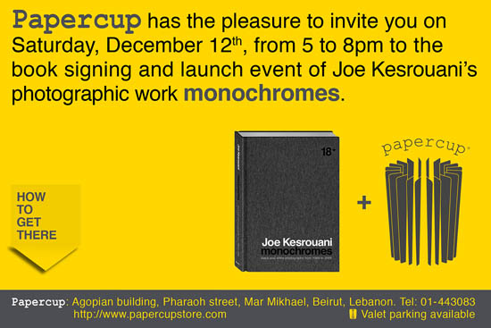 Joe Kesrouani's Photographic Book Signing