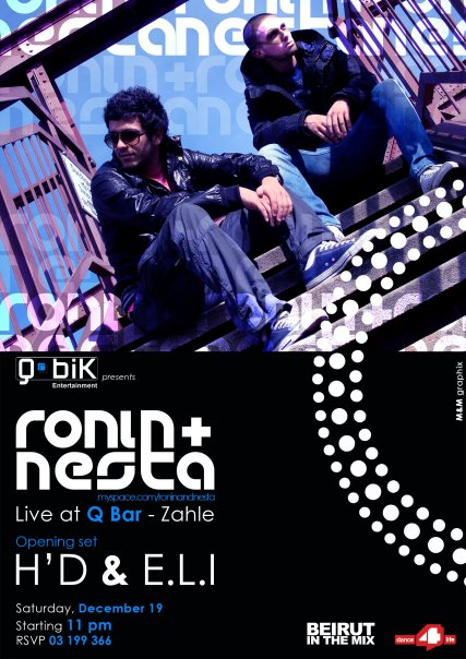 RoNiN & Nesta – Live @ Q Bar