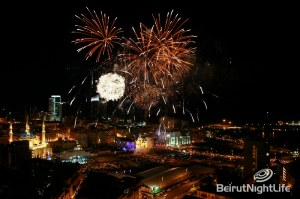 DownTown Beirut NYE Fireworks SKY VIEW
