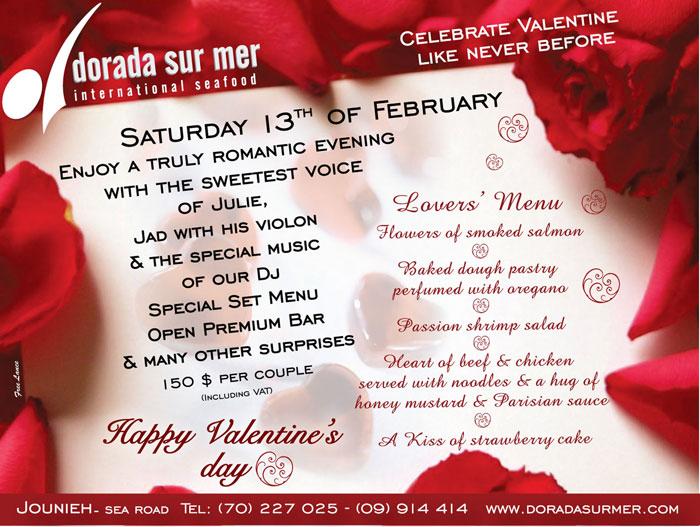 Dorada Sur Mer Valentines Day