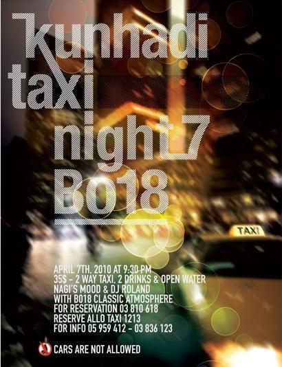 Taxi Night 7 at BO18