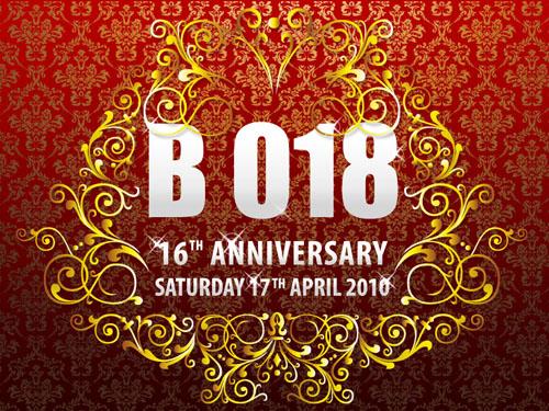 B 018 16th Anniversary