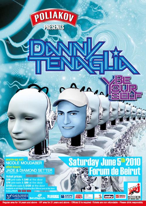 Danny Tenaglia- A living Legend in Lebanon June 5th, 2010