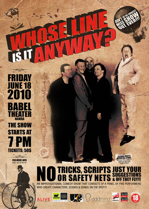WHOSE LINE IS IT ANYWAY? In Beirut For The First Time JUNE 18th