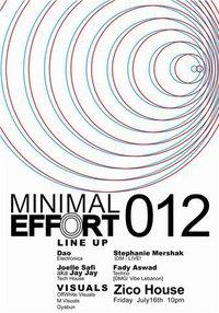 Minimal Effort 012