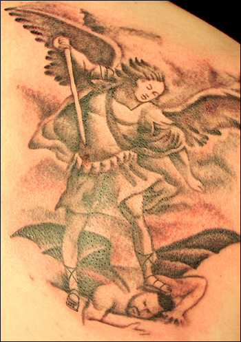 angel devil tattoos22 Tattoos: Power disguised in a needle