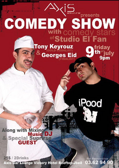 Comedy Show at Axis Lounge Bar