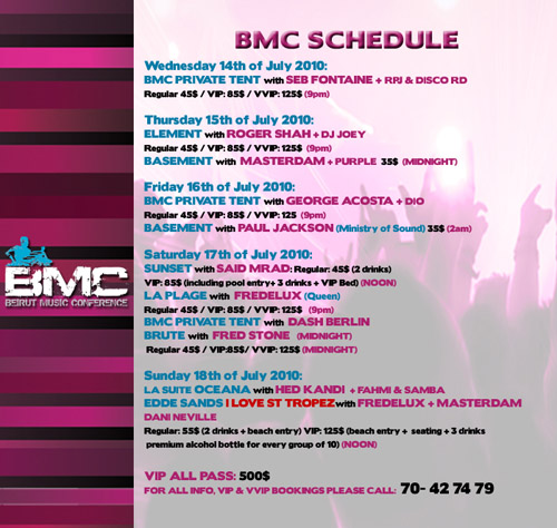 BMC Opening with Seb Fontaine and many more