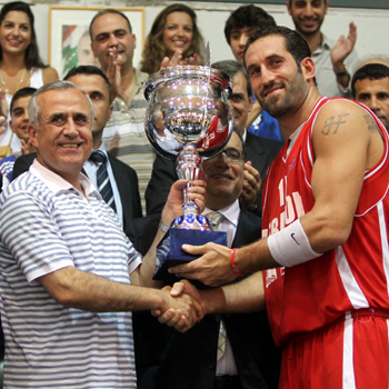Lebanon Champions in presence of the Lebanese President