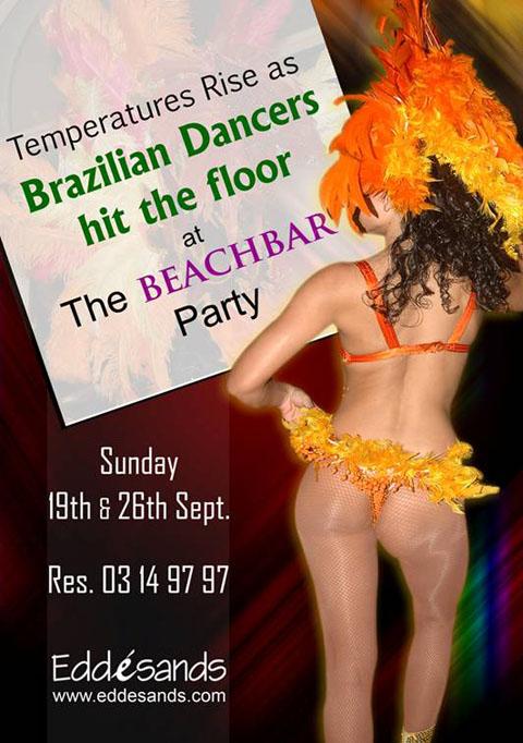 Brazilian Dancers turn up the beat at éBEACHBAR !
