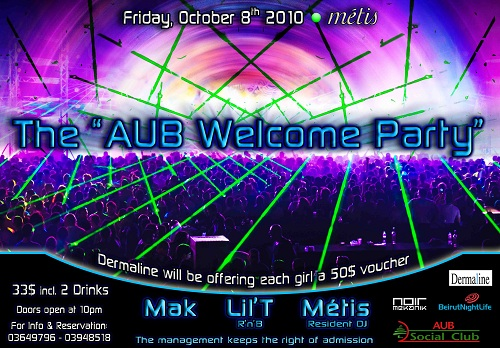 """The """"AUB Welcome Party"""""""