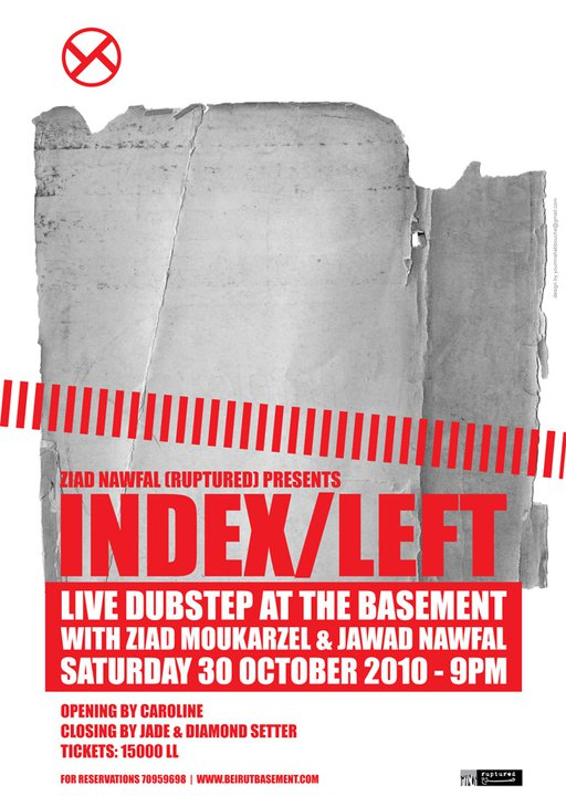 Ziad Nawfal pres. INDEX/LEFT (live) at THE BASEMENT