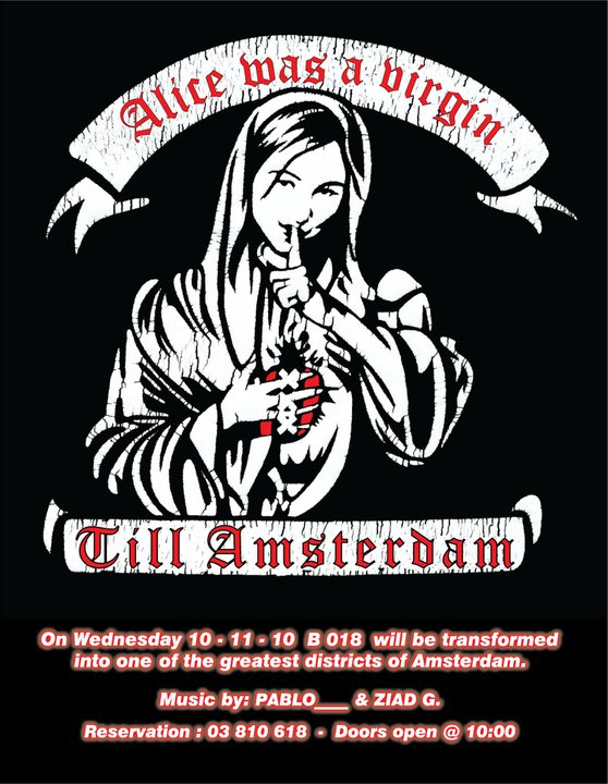 ALICE WAS A VIRGIN TILL AMSTERDAM W/ PABLO and ZIAD G.