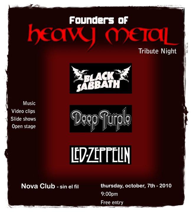 Founders of Heavy Metal – Tribute Night