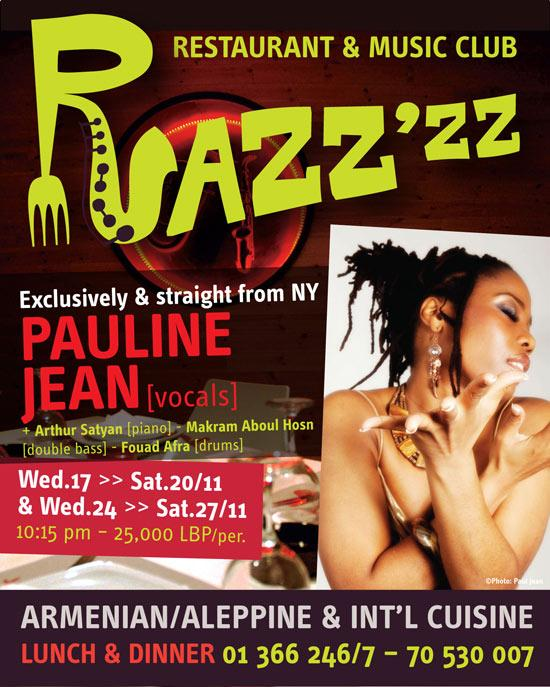 Straight From New York Pauline Jean At Razzzz Music Club