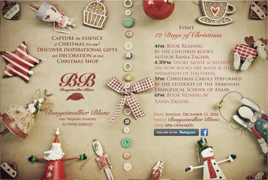 12 Days Of Christmas At Bougainvillier Blanc