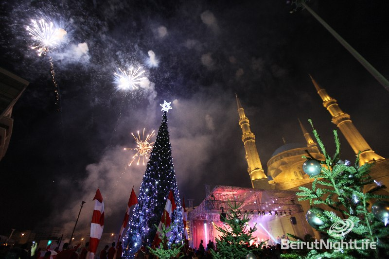 The Christmas Parade And The illumination Of The Christmas Tree At Downtown Beirut