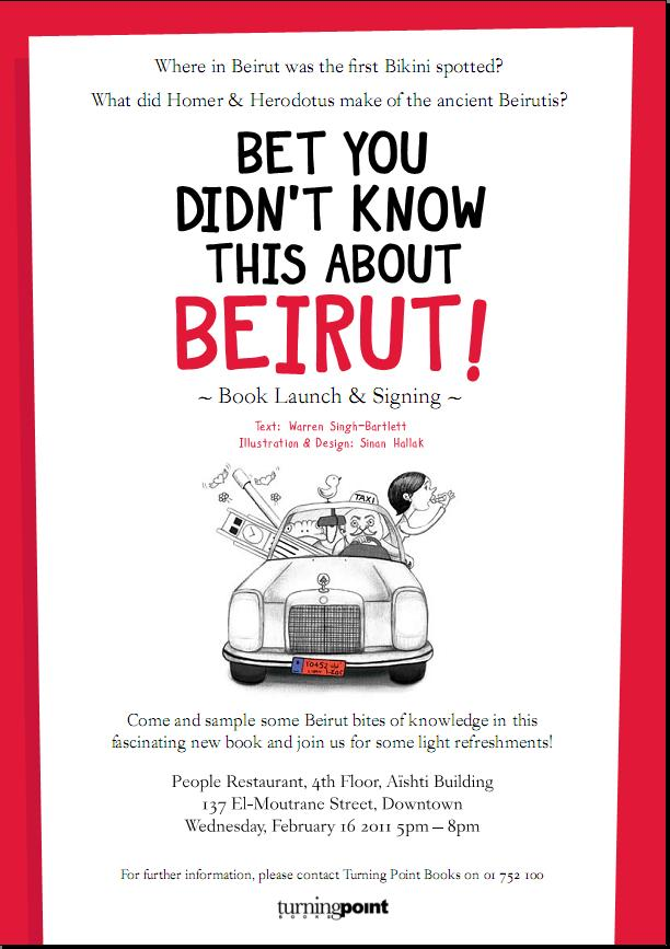 "Launching And Signing Book ""Bet you didn't know this about Beirut"" At People"