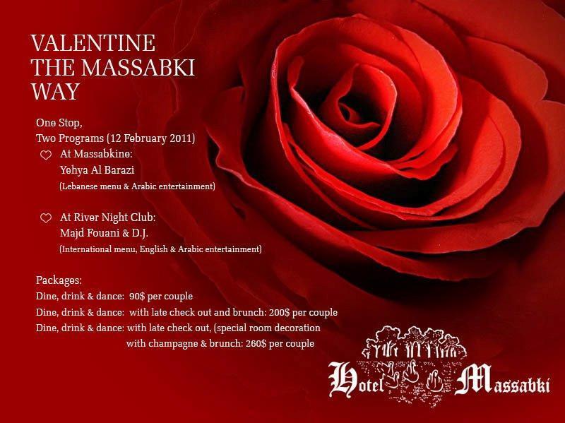 Valentine At Massabki Hotel