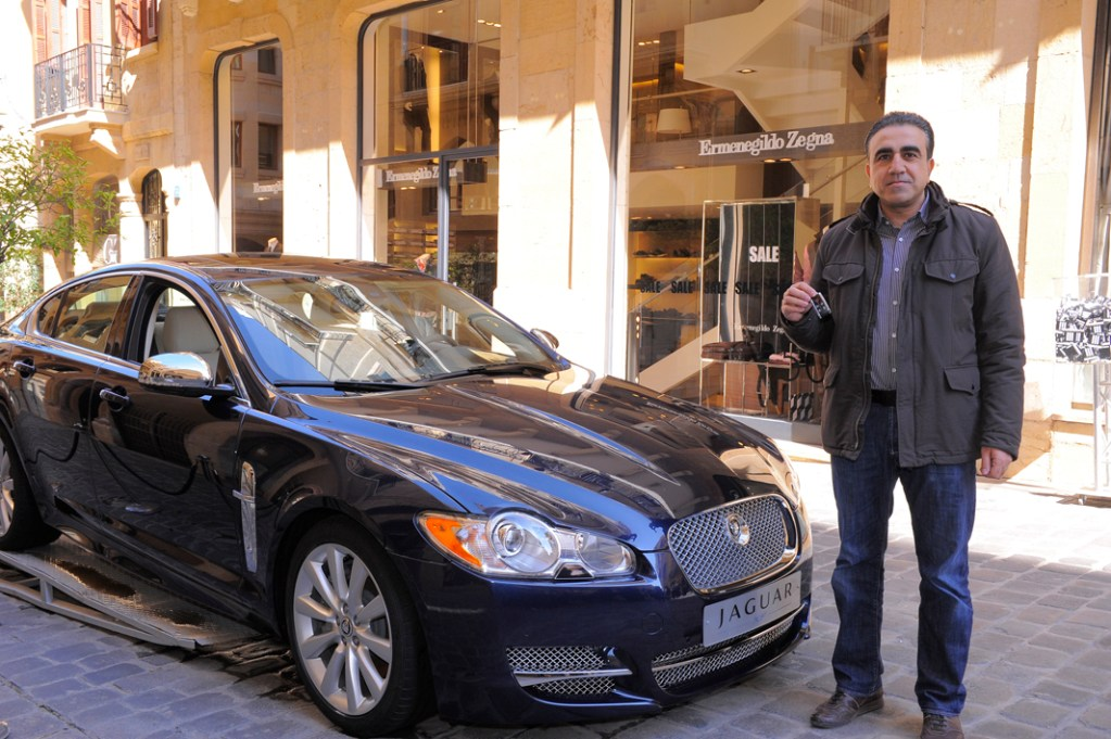 Winner of Jaguar XF with Aïshti