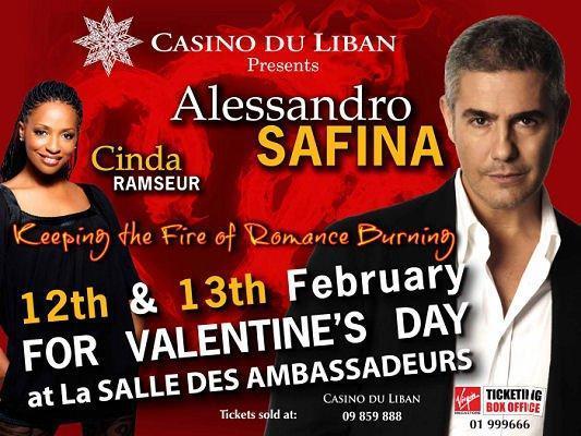 Alessandro Safina And Cinda Ramseur At Casino Du Liban
