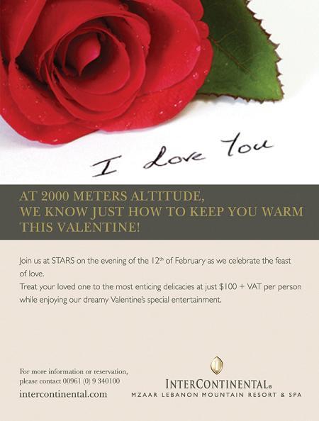 Celebrate Valentine At InterContinental Mzaar