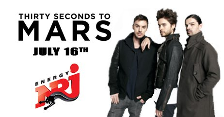 30 Seconds To Mars LIVE IN LEBANON with NRJ on JULY 16!