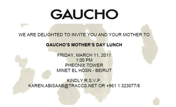 Gaucho Mother's Day Lunch
