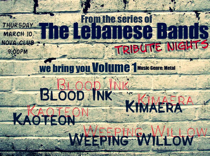 A Tribute Night To The Lebanese Bands At Nova