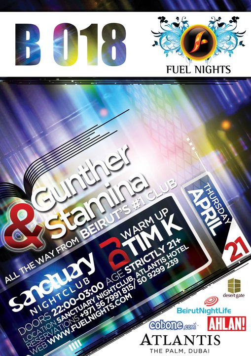 B018 Beirut And Fuel Nights Proudly Presents Djs Gunther And Stamina In Dubai
