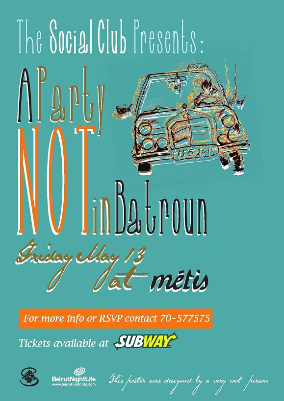 The Social Club Presents A Party Not In Batroun At Metis