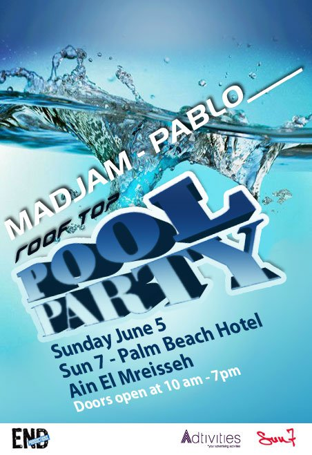 Rooftop Pool Party With Pablo And Madjam