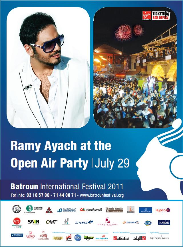 Open Air Party With Ramy Ayach At Batroun Festival
