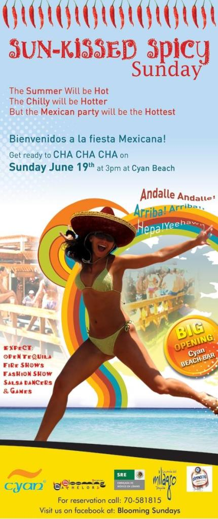 Sun-Kissed Spicy Sunday At Cyan