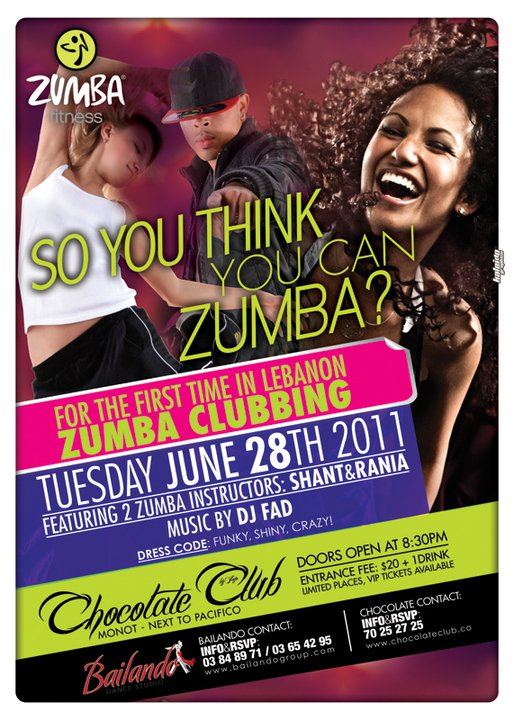 It's That Time Again! Time For Zumba Clubbing At Chocolate