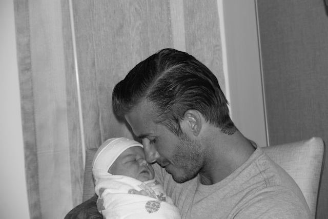 First Image: Beckham and his Little Girl